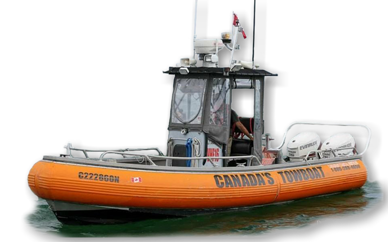 Canada Towboat out on patrol to help boaters in need of boat towing or emergency assistance.